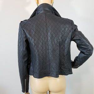Decree Jackets & Coats - LIKE NEW! Decree Faux Leather Moto Quilted Jacket